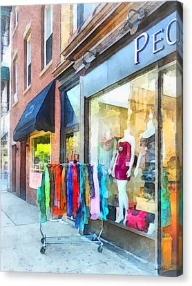Hoboken Nj Dress Shop Canvas Print by Susan Savad