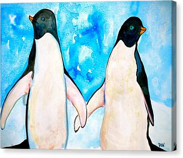 Dressed For Dinner Canvas Print by Debi Starr
