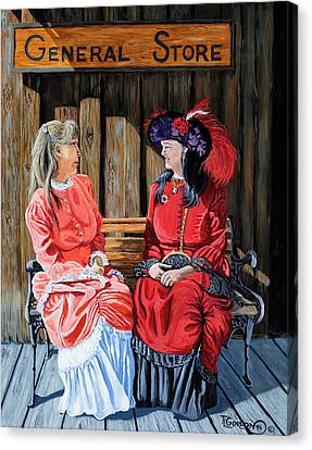 Dressed For Town Canvas Print by Timithy L Gordon