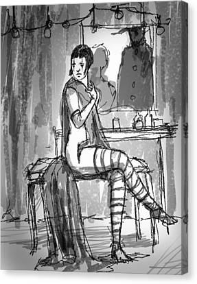Dressing Room Canvas Print by H James Hoff