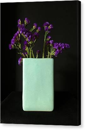 Dried Purple Flowers Canvas Print by Patricia Januszkiewicz