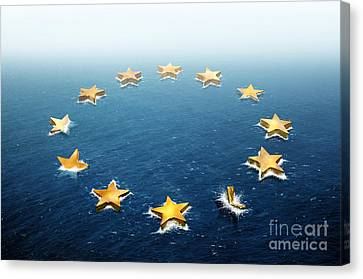 Drifting Europe Canvas Print by Carlos Caetano