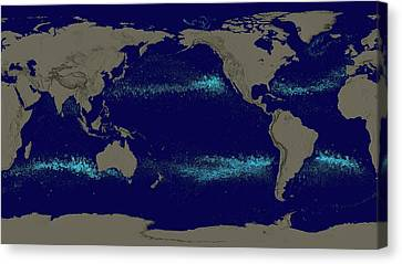 Drifting Ocean Garbage Canvas Print by Nasa's Scientific Visualization Studio