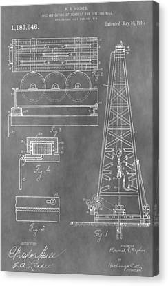 Drilling Rig Patent Canvas Print by Dan Sproul
