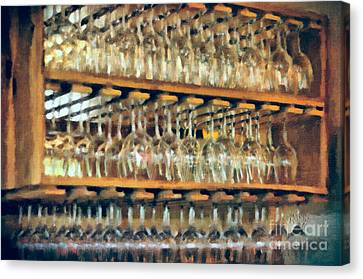 Drinks On The House In Smoky Gold Canvas Print by Lois Bryan