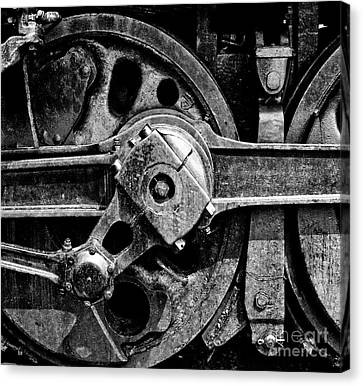 Drive Wheel - 190 - Bw Canvas Print by Paul W Faust -  Impressions of Light
