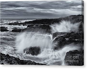 Driven By The Storm Canvas Print by Mike  Dawson