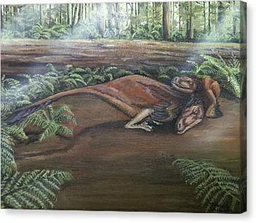Dromaeosaurus Canvas Print by Tristan Roberts
