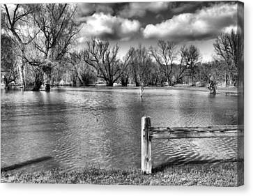 Drowned Park Canvas Print by Tim Buisman