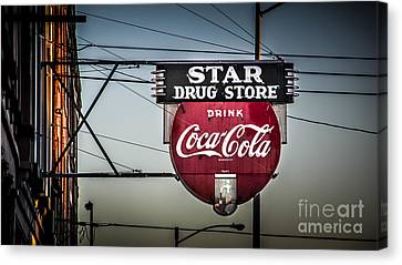 Drug Store Canvas Print by Perry Webster
