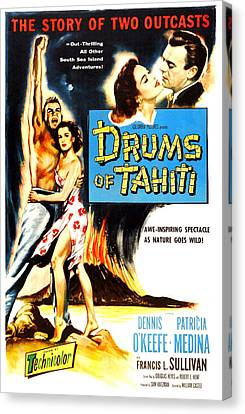 Drums Of Tahiti, Us Poster, From Left Canvas Print by Everett
