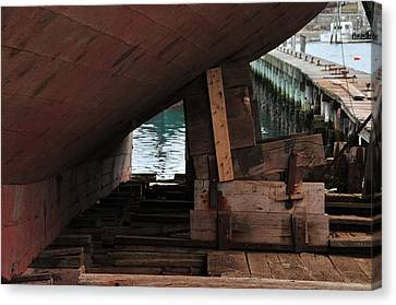 Dry-dock Canvas Print by Mike Martin