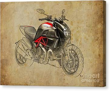 Ducati Diavel Carbon 2011 Canvas Print by Pablo Franchi