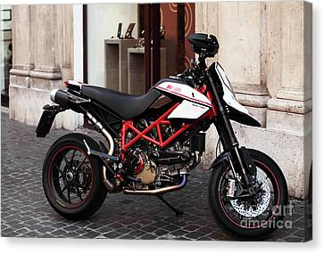 Ducati Motor Cross Canvas Print by John Rizzuto