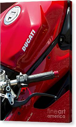 Ducati Red Canvas Print by Tim Gainey