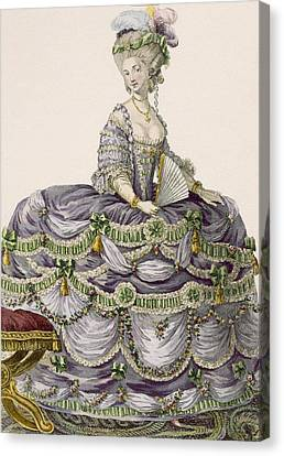 Duchess Evening Gown, Engraved Canvas Print by Pierre Thomas Le Clerc