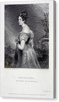 Duchess Of Bedford Canvas Print by British Library