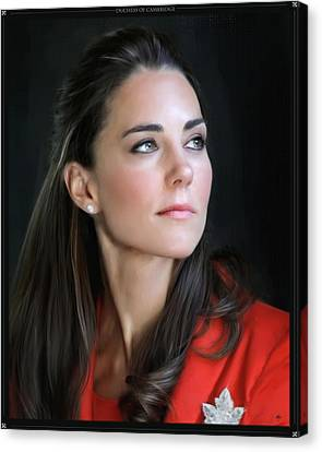 Duchess Of Cambridge Canvas Print by Martin Bailey