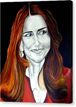 Duchess Of Cambridge Canvas Print by Prasenjit Dhar