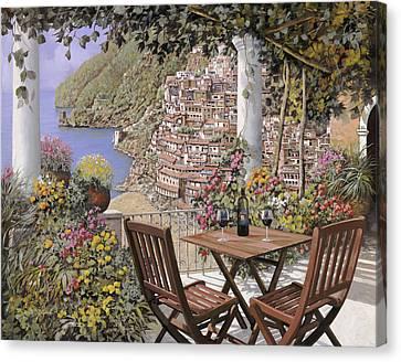 due bicchieri a Positano Canvas Print by Guido Borelli