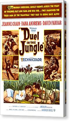 Duel In The Jungle, Us Poster, Bottom Canvas Print by Everett