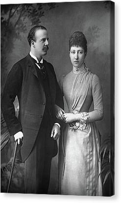 Duke And Duchess Of Fife Canvas Print by Granger