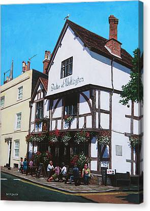 Duke Of Wellington Tudor Pub Southampton Canvas Print by Martin Davey