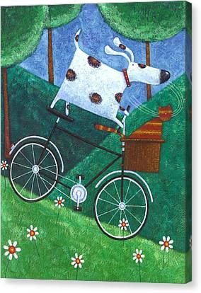 Dukes Bike Ride Canvas Print by Peter Adderley