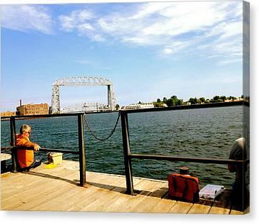 Duluth Docks Canvas Print by Danielle  Broussard