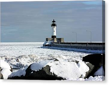 Duluth Harbor Lighthouse Canvas Print by Amanda Stadther