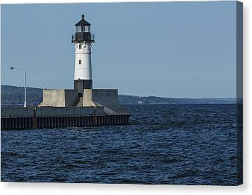 Duluth N Pier Lighthouse 40 Canvas Print by John Brueske