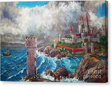 Dundegin Castle Canvas Print by Philip Lee