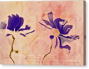 Duo Daisies - 01c2t5bc Canvas Print by Variance Collections