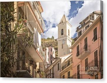 Duomo Bell Tower Of Manarola Canvas Print by Prints of Italy