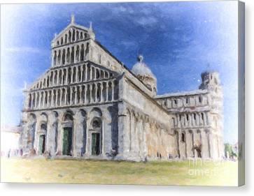 Duomo Di Santa Maria Assunta Pisa Italy Canvas Print by Liz Leyden