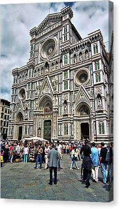 Duomo Of Florence Canvas Print by Allen Beatty