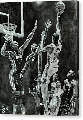 Durant For The Win Canvas Print by Ezra Strayer