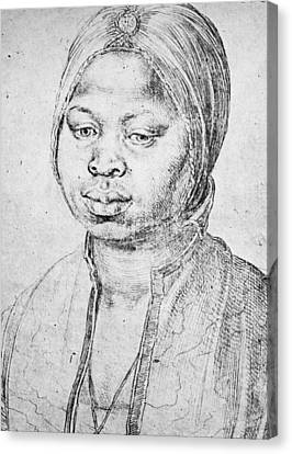 Durer Slave Woman, 1521 Canvas Print by Granger