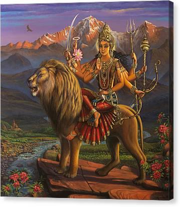 Durga Ma Canvas Print by Vrindavan Das