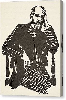 Durkheim, Copy By Boris Mestchersky Canvas Print by French School
