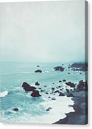 Dusk At The Sea Canvas Print by Lupen  Grainne