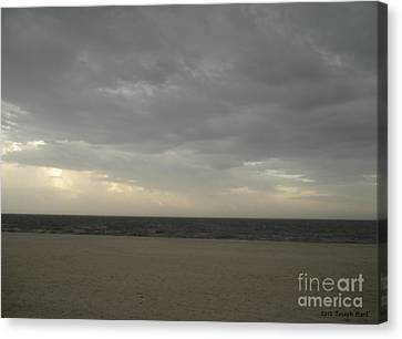Dusk Beach Walk  Canvas Print by Joseph Baril