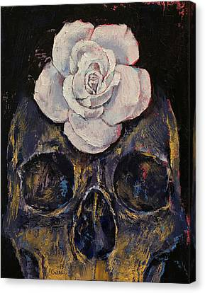 White Rose Canvas Print by Michael Creese