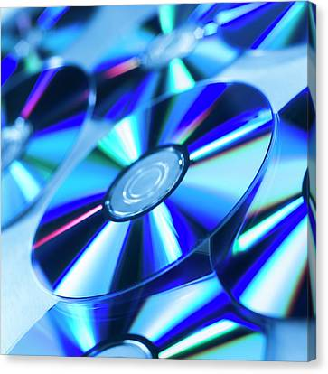 Dvds Canvas Print by Science Photo Library