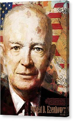 Dwight D. Eisenhower Canvas Print by Corporate Art Task Force