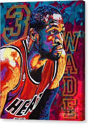 Dwyane Wade 3 Canvas Print by Maria Arango