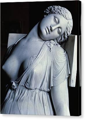 Dying Lucretia  Canvas Print by Damian Buenaventura Campeny y Estrany