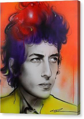 Bob Dylan - ' Dylan ' Canvas Print by Christian Chapman Art