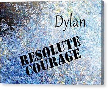 Dylan - Resolute Courage Canvas Print by Christopher Gaston