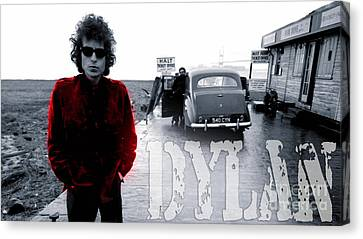Bob Dylan Canvas Print by Marvin Blaine